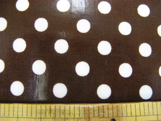 画像1: 定番 7mmドット柄(茶色) ラミネート