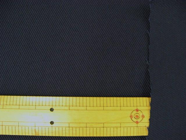 画像1: ▼訳あり カツラギ(24)紺色 はぎれ35cm