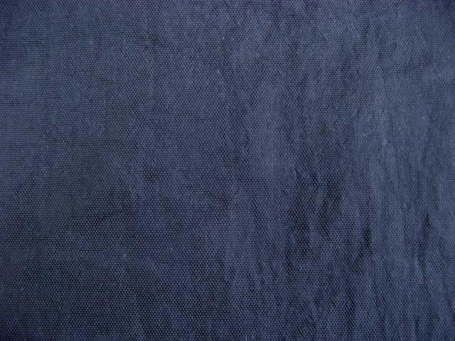画像1: 撥水加工 定番 ナイロンオックス生地 無地紺色