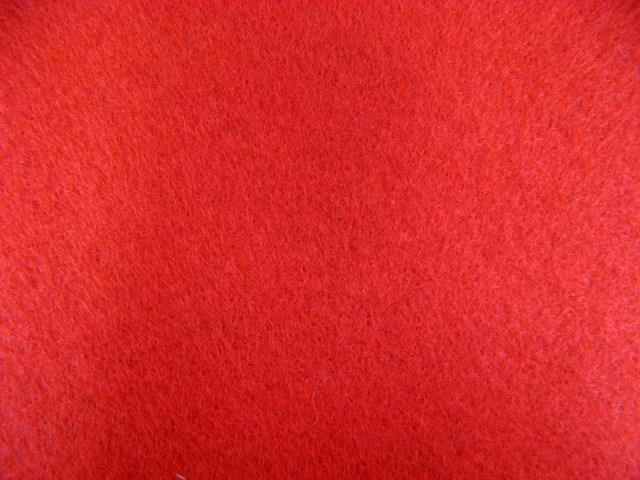 画像1: 定番洗えるフエルト90cm巾生地 赤(RZ-23)