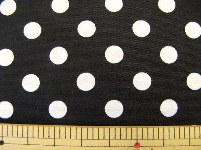 画像1: 定番ブロード 7mmドット柄(黒)