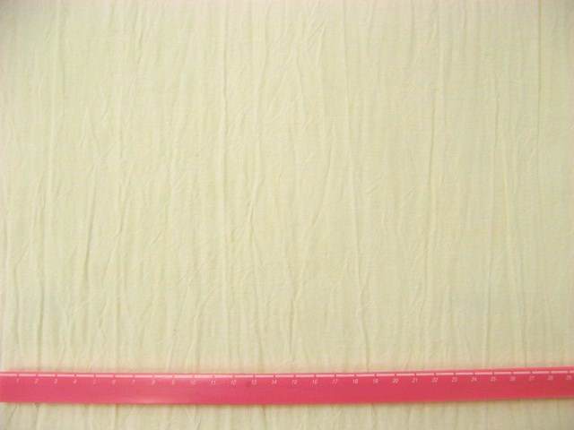 画像1: ♡リネンキャンバスハンドワッシャー生地(オフホワイト)はぎれ45cm